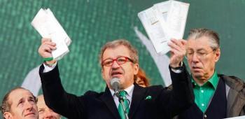 Pontida 2013,ilclassico raduno della Lega Nord a Pontida