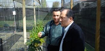 Azzalin durante una delle tante visite al Cra-Cin con il professor Grassi